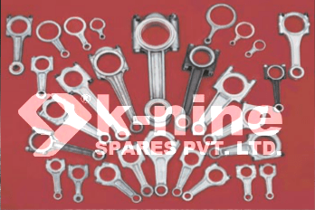 The connecting rod is the connecting link between the piston and the crankshaft.