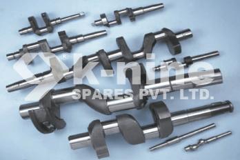 The crankshaft is the main shaft of the compressor.